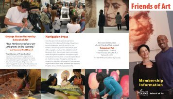 Friends of Art brochure - School of Art - George Mason University