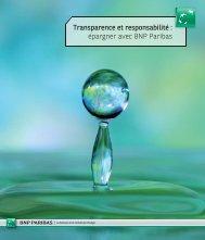 Transparence et responsabilité : épargner avec BNP Paribas