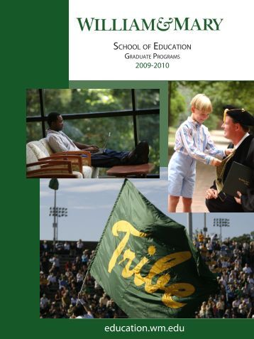 Graduate Catalog 2009-2010 - School of Education - College of ...