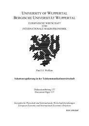 Schattenregulierung in der Telekommunikationswirtschaft - EIIW