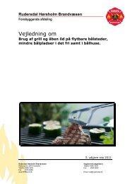 Vejledning om brug af grill og åben ild. - Rudersdal Hørsholm ...