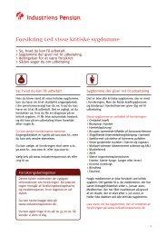 Forsikring ved visse kritiske sygdomme - Industriens Pension