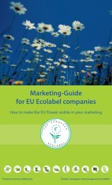 high - EU Ecolabel Marketing for Products
