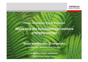 Wyzwania dla europejskiego sektora energetycznego - p.wnp.pl