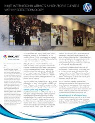 Inkjet International Attracts a High-Profile Clientele with HP Scitex ...