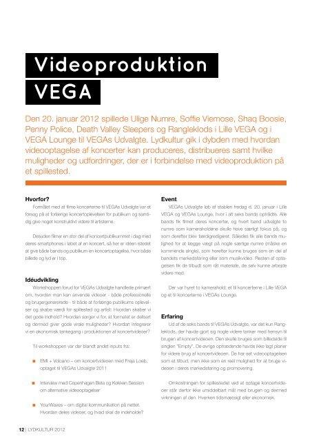 LYDKULTUR 2012   1 - Vega