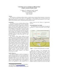 Calculating soot in a turbulent jet diffusion flame using the unsteady ...