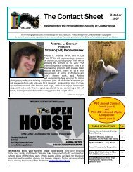 2007 October Newsletter - Photographic Society of Chattanooga