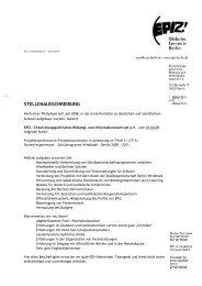 STELLENAUSSCHREIBUNG - EPIZ Entwicklungspolitisches Bildungs