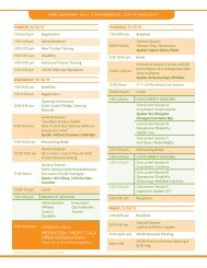 PRELIMINARY FALL CONFERENCE 2011 SCHEDULE ... - SACRS