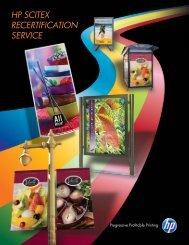 HP Scitex Recertification Service (PDF, EN only)