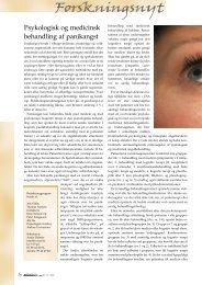 Psykologisk og medicinsk behandling af panikangst - Elbo