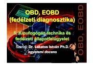 OBD, EOBD (fedélzeti diagnosztika)