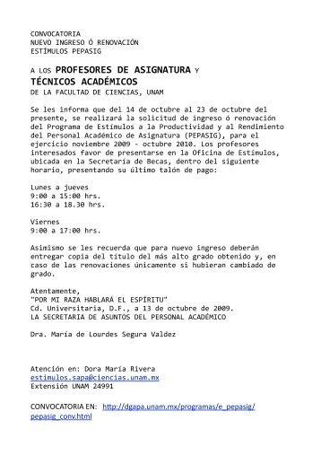 técnicos académicos - UNAM