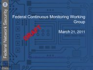 Federal Continuous Monitoring Working Group - SCAP