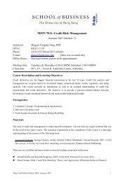 MFIN 7011: Credit Risk Management - KsuWeb