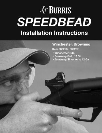 SPEEDBEAD Installation Instructions - OpticsPlanet.com