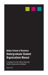 Undergraduate Student Organizations Manual - Kelley School of ...