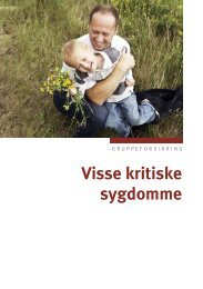 Visse kritiske sygdomme