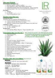 Hvad hjælper Aloe Vera dig med - LR | Produkterne alle snakker om ...
