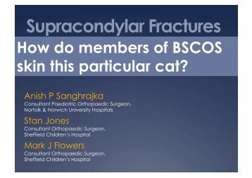 Supracondylar Fractures of the distal humerus - Bscos.com