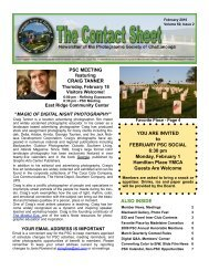 2010 February Newsletter - Photographic Society of Chattanooga