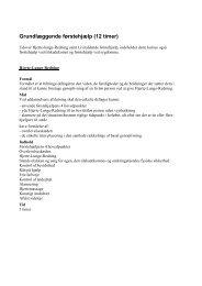 Grundlæggende førstehjælp (12 timer) - Beredskab Hobro