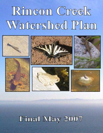 Final Rincon Creek Watershed Plan - State of California
