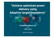 Achieve optimized power delivery using adaptive target impedance
