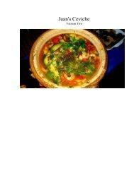Juan's Ceviche - The Geriatric Gourmet