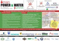 The only event dedicated to Oman's power and water sector ... - EMA