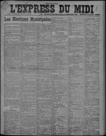 Les Elections Municipales - Bibliothèque de Toulouse