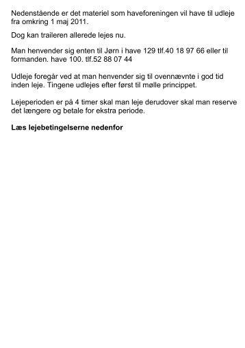 Klik - Haveforeningen Finmarken