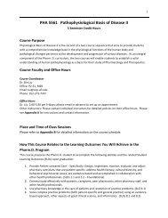 PHA 5561C Syllabus.pdf - College of Pharmacy