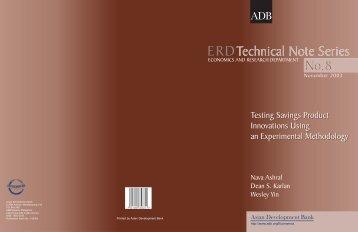 Testing Savings Product Innovations Using an - Dean Karlan