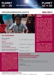 PROGRAMMHIGHLIGHTS MAI 2011 - Planet