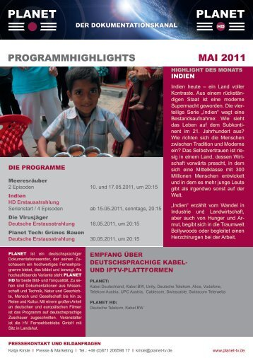 PROGRAMMHIGHLIGHTS MAI 2011 - Planet