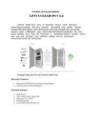 Cara Instalasi Clear OS