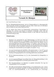 Praktikum Versuch 16 - Positron Annihilation in Halle - Martin-Luther ...