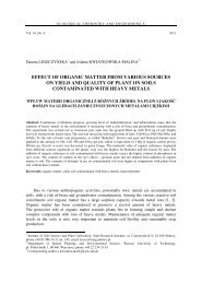 effect of organic matter from various sources on yield and quality of ...