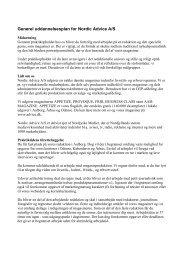Generel uddannelsesplan for Nordic Advice A/S