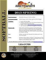 Registration Flyer - City of San Clemente