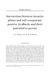 Interactions Between Invasive Plants And Soil Ecosystems