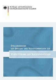 Stellungnahme der Drogen- und Suchtkommission zur ...