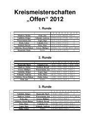 """Kreismeisterschaften """"Offen"""" 2012 1. Runde"""