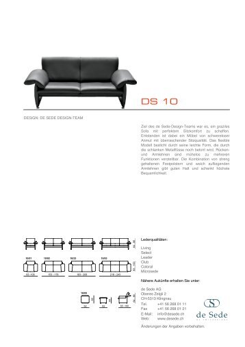 deSede main catalogue - CMS