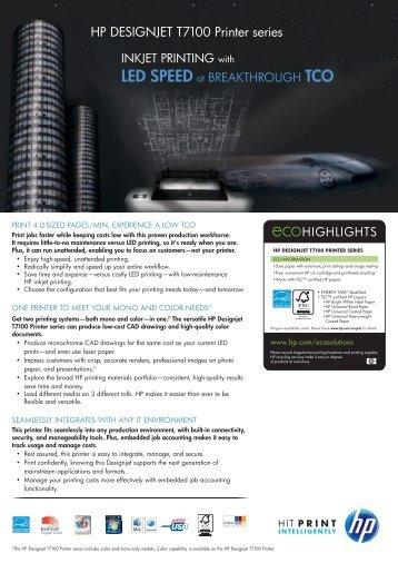 Download the HP Designjet T7100 Brochure - Azero