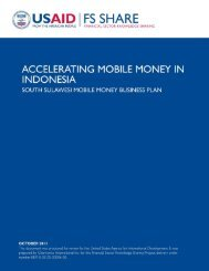 South Sulawesi Mobile Money Business Plan - Economic Growth ...