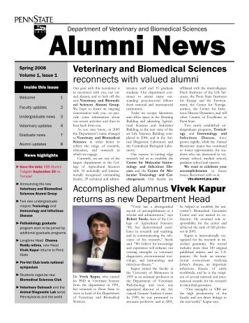 Department of Veterinary and Biomedical Sciences Alumni News