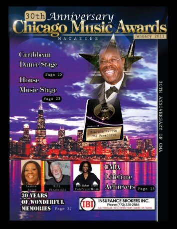Performers - Martin International, Chicago Music Awards ...